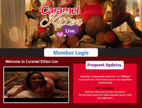 Caramel Kitten Live 3gp